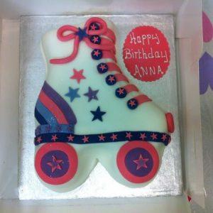 Rollerskate Cake